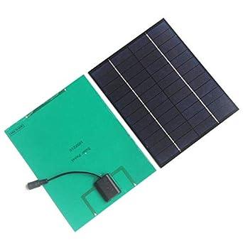 CCChaRLes 6.5W 12V 5V Panel Solar Cargador De Batería Solar ...