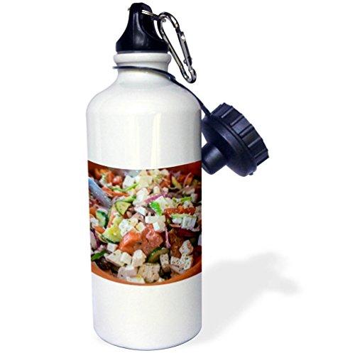 3dRose Danita Delimont - Food - Greek salad, Tourist Club, Olympia, Greece, Europe - 21 oz Sports Water Bottle (wb_277445_1)