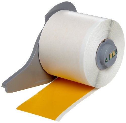 Brady High Adhesion Vinyl Label Tape (M71C-2000-595-YL) - Yellow Vinyl Film - Compatible with BMP71 Label Printer - 50' Length, 2