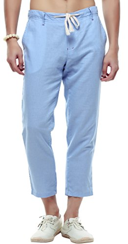 Light Blue Capri Pants - 7