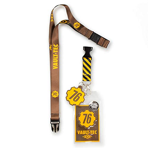 Bioworld Fallout 76 Collector's Special Edition Vault-Tec Lanyard and Charm