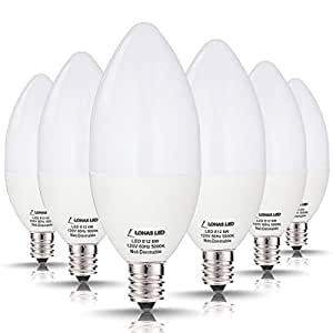 Watt LED Candelabra Light Bulbs LOHAS Daylight White Light K - Led kitchen ceiling light bulbs