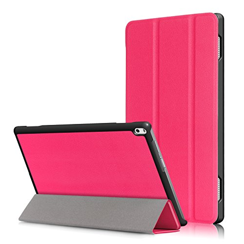Lenovo Tab 4 10'' Case, EpicGadget(TM) Lenovo Tab 4 10 (TB-X304F/N) Tri-fold Stand Ultra Lightweight Slim Cover PU Leather Case For Lenovo Tab 4 10'' (2017) (Pink) by EpicGadget(TM)