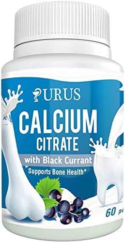 60 New URUS Calcium Citrate with Black Currant Vegan, 60 Pills