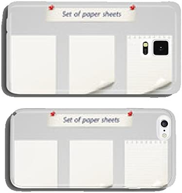 Vector set of paper sheet ,texture notebook sheets isolated cell ...