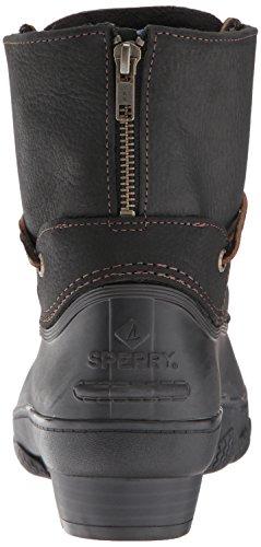 Rain Tide Saltwater Medium Sider Women's US Top Wedge Black Sperry Boot 5 9 nxC1qTRq