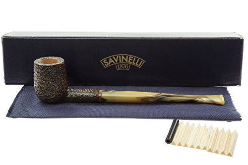 Savinelli Ginger's Favorite 104 Churchwarden Pipe - Rustic by Savinelli
