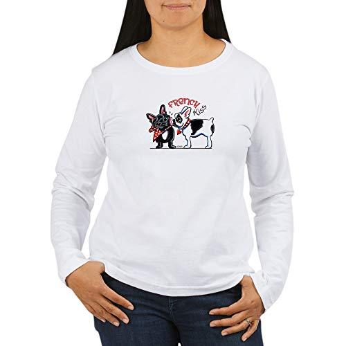 CafePress French Kiss Women's Long Sleeve T Shirt Women's Long Sleeve T-Shirt, Classic 100% Cotton Crew Neck Shirt White ()