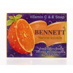 Bennett Vitamin C&E Soap Bennett Natural extracts /Thai Soap 130 G.by siammarche (Myer Gift Baskets)