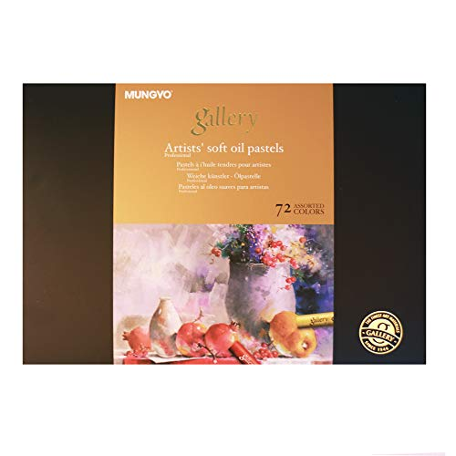 Mungyo Gallery Artists' Soft Oil Pastels Set of 72 Assorted Colors(MOPV-72)