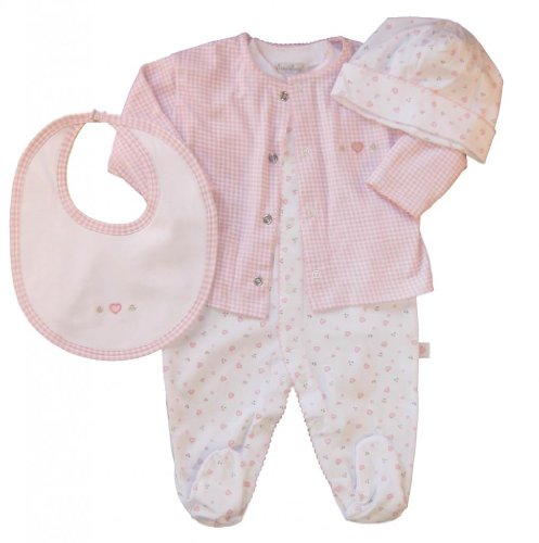 Kissy Kissy Baby Girls Homeward Bound Hearts Take Me Home Set-0-3 Months