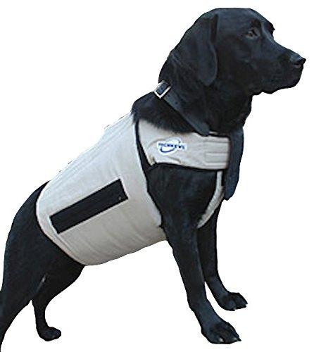 TechKewl Phase Change Cooling Dog Coat, Small/Medium, Khaki