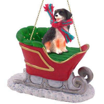Mountain Dog Ornaments (Bernese Mountain Dog Sleigh Christmas Ornament)