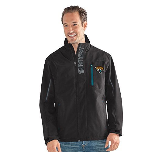 NFL Jacksonville Jaguars Adult Men Energy Soft Shell Full Zip Jacket, Large, Black