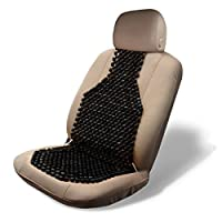 Wood Beaded Seat Cushion By Zone Tech (Black)