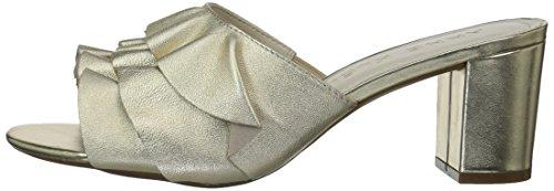 Gold Pump Cerise Women''s Ruffle Anne Slide Klein Leather YwvOqxaFn