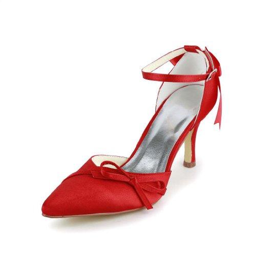 A313B pour Wedding Rouge de chaussures Jia femme mariage Jia mariée Escarpins fRwqgEZ1n