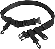 Fishing Wading Belt Adjustable Multi-Functional Fishing Waist Belt with Hook D-Ring for Fly Fishing Surf Casti