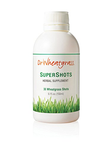 Dr Wheatgrass Supershots(30 Day Supply) - Organic Wheatgrass Juice in a Bottle, Stronger Than Fresh Wheatgrass Juice and Powder …