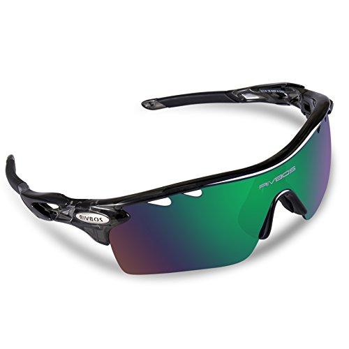 RIVBOS Unisex Polarized Sunglasses Interchangeable