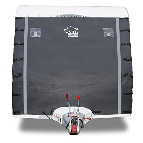 Rhino Guard Caravan Towing Cover Protector Universal Charcoal Grey