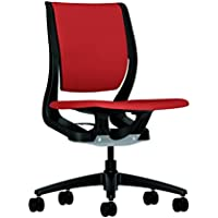 HON Purpose Mid-Back Chair with YouFit Flex Motion, Onyx Shell, Black Base and Poppy Fabric for Office or Computer Desk