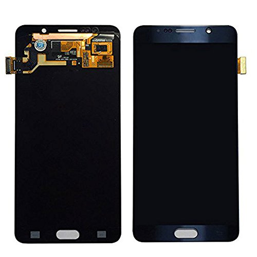 Black Sapphire LCD Touch Screen Glass Display Assembly for Samsung Galaxy Note 5 by Group Vertical