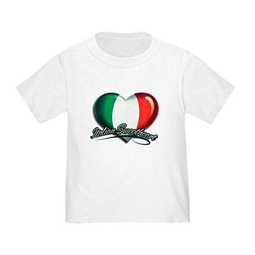 Royal Lion Toddler T-Shirt Italian Sweetheart Italy Flag - White, 4T