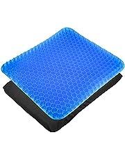 CXtech Gel zitkussen orthopedisch gelkussen ademend, ergonomisch zitkussen 42 x 35 x 3,5 cm met innovatieve honingraatgelconstructie voor auto, kantoor en rolstoel