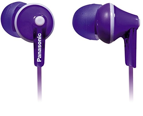 Investment Panasonic ErgoFit Best in Class In-Ear Earbuds Headphones with Mic/Controller RP-TCM125-V (Purple) iPhone, Android Compatible, Noise Isolating Headphones cheapest
