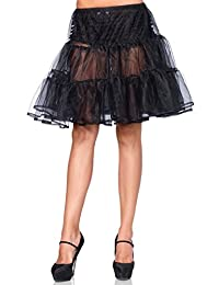 Leg Avenue Shimmer Organza Knee Length Petticoat Skirt