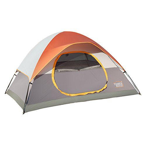 Family Camping Tent 4 Person 3 Seasons with Rain Fly and Carrying bag, Easy Set Up and Lightweight by Timber Ridge