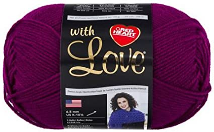 Solid Red Heart With Love Yarn