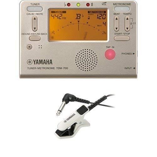 야마하 튜너 메트로놈 TDM-700G & 야마하 튜너용 마이크로 폰 TM-30WH 세트