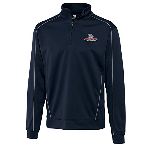 NCAA Gonzaga Bulldogs Adult Men CB Drytec Edge Half Zip, X-Large, Navy Blue