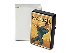 Encendedor De Gasolina Impreso Recargable Los jugadores de béisbol Bate de béisbol Béisbol