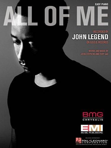 Legend John Sheet Piano (John Legend - All of Me - Easy Piano Sheet Music)