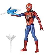 Marvel Spider-Man Titan Hero-reeks Blast Gear-actiefiguur met blaster, 2 projectielen en 3 pantseraccessoires, speelgoed voor kinderen vanaf 4 jaar