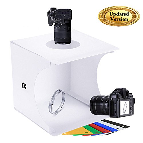 Mini Photo Studio Tent Jewelry Light Box Kit, SENLIXIN Portable Foldable Small Home Photography Studio Light Box Booth Shooting Tent with LED Light Strips - Coming with 6 Color Background (Light Diffuser Roll)