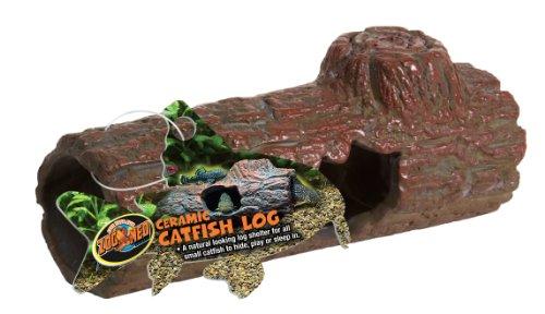 Zoo Med Ceramic Sinking Catfish Log, 6.45-Inch