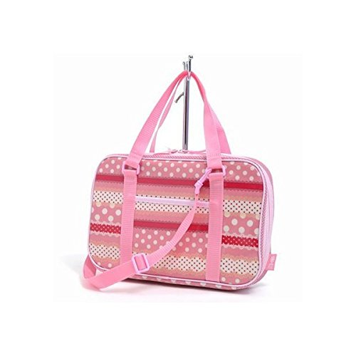 Polka dot and lace Harmony Kids Calligraphy, penmanship set Kuretake ribbon rated on style (pink) made in Japan N2202110 (japan import)