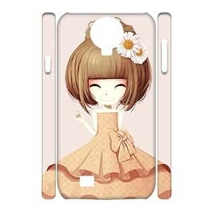 Custom SamSung Galaxy S4 I9500 Case, Zyoux DIY New Design 3D SamSung Galaxy S4 I9500 Plastic Case - Flower girl