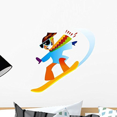 Wallmonkeys Freestyle Snowboarder Wall Decal Peel and Stick Graphic WM165182 (18 in H x 18 in W) - Freestyle Wall