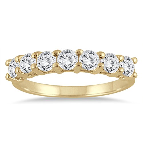 7 Stone Diamond Wedding Band - 5