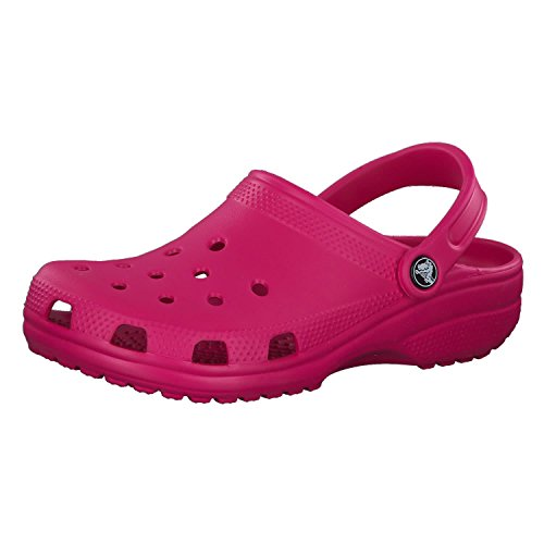 (Crocs Unisex Classic Shoes, Candy Pink, M8/W10)