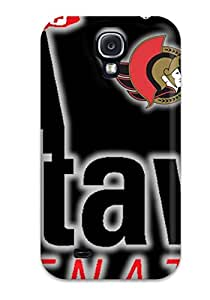 Rugged Skin Case Cover For Galaxy S4- Eco-friendly Packaging(ottawa Senators (36) )