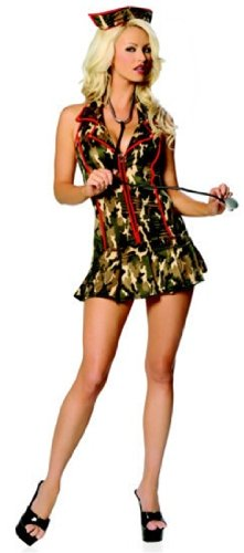 [Sexy Army Triage Nurse Costume - M/L] (Army Medic Costumes)