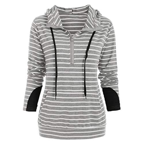 〓COOlCCI〓Women's Fashion Hoodies & Sweatshirts,Women's Casual Zip-up Hoodie Long Sleeve Comfortable Lightweight Hoodie Gray