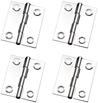 4pcs Stainless Steel Hinges Folding Butt Back Flap for Door Cabinet Furniture
