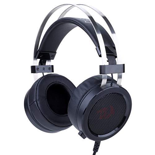 🥇 Redragon H901 SCYLLA – Cascos headset para Gaming – Audio de Alta Definición + Potentes Bajos – Auriculares de Diadema con Micrófono para Videojuegos PC